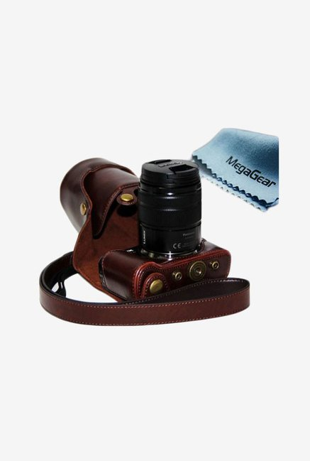 MegaGear Leather Camera Case for Panasonic GF6 (Dark Brown)