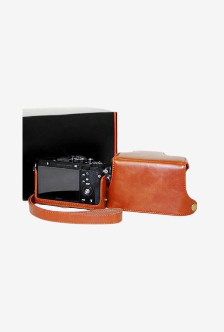 MegaGear Leather Camera Case for Sony Dsc-Rx1 (Brown)