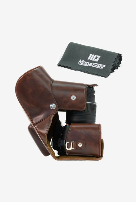 MegaGear Leather Camera Case for Nikon D3200 (Dark Brown)