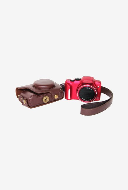 MegaGear Leather Camera Case for Canon SX170 IS (Dark Brown)