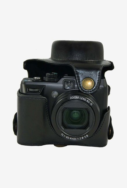 MegaGear Leather Camera Case for Canon PowerShot G1X (Black)