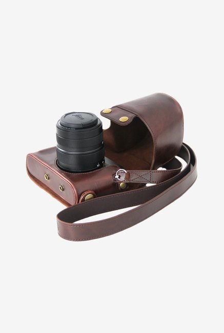 MegaGear Leather Camera Case for Leica X Camera (Brown)