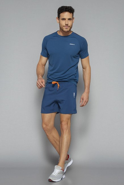 Westsport by Westside Blue Slim Fit Shorts