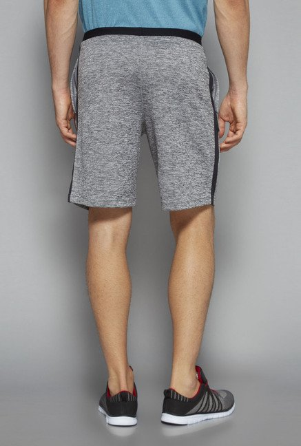 Westsport by Westside Grey Slim Fit Shorts