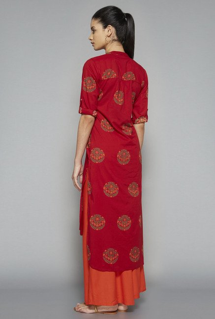 Utsa by Westside Red Printed Kurta
