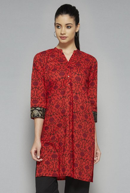 Utsa by Westside Orange Printed Kurta