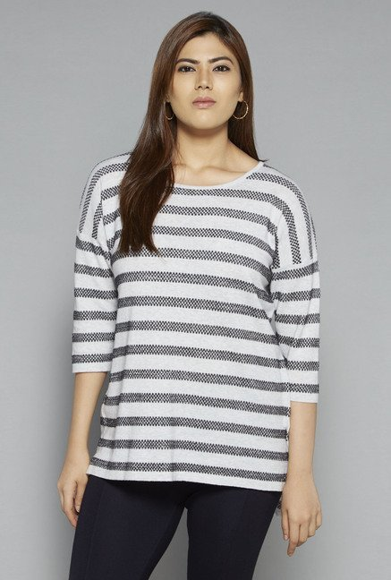 Gia by Westside Grey Finet Top