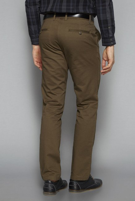 Ascot by Westside Tan Slim Fit Chinos