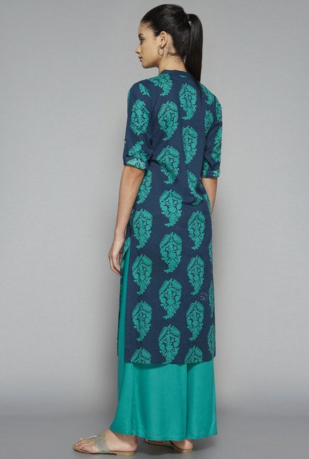Utsa by Westside Navy Printed Kurta