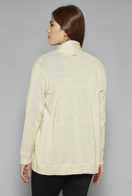 Gia by Westside Beige Cotton Shrug