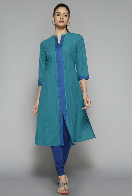 Utsa by Westside Green Solid Kurta
