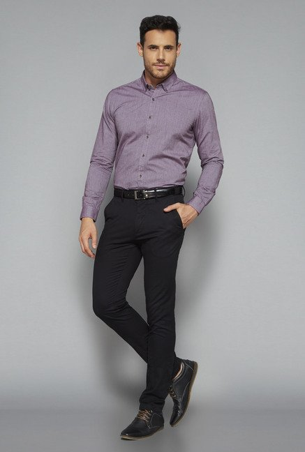 Ascot by Westside Purple Slim Fit Shirt
