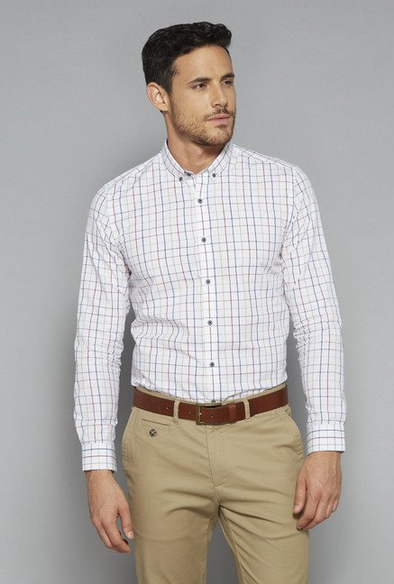 Ascot by Westside White Slim Fit Shirt