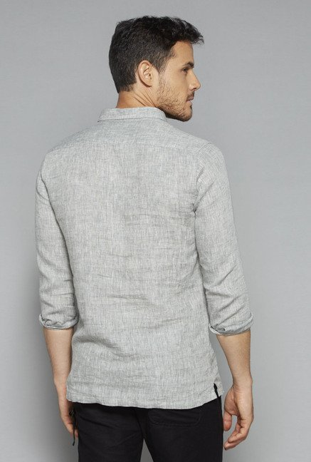 ETA by Westside Grey Slim Fit Shirt