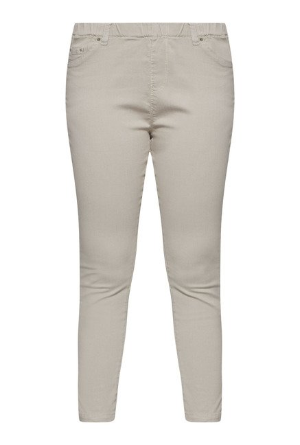 Gia by Westside Beige Solid Jeggings