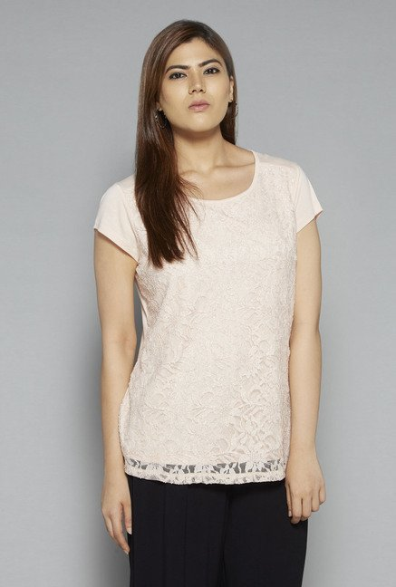 Gia by Westside Peach Abigail Blouse