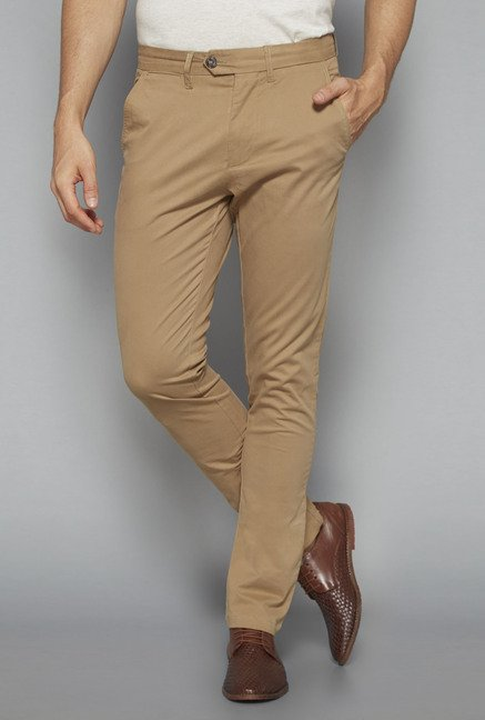 Ascot by Westside Khaki Slim Fit Chinos