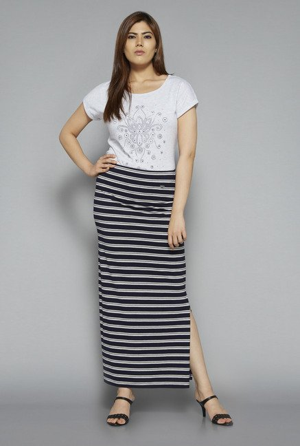 Gia by Westside Navy Celen Skirt