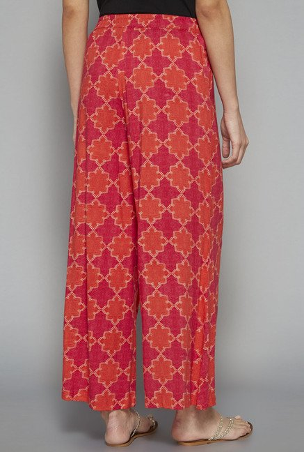 Utsa by Westside Orange Printed Palazzo