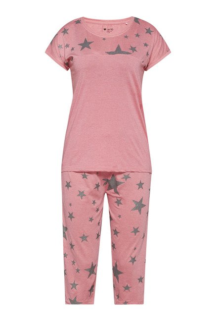 Intima by Westside Pink Printed Capri Set