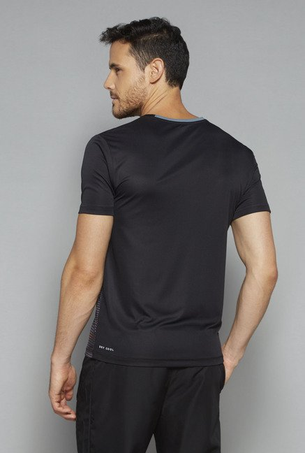 Westsport by Westside Black Slim Fit T Shirt