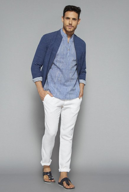 ETA by Westside Blue Slim Fit Shirt