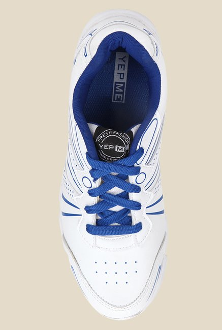 Yepme White & Blue Running Shoes