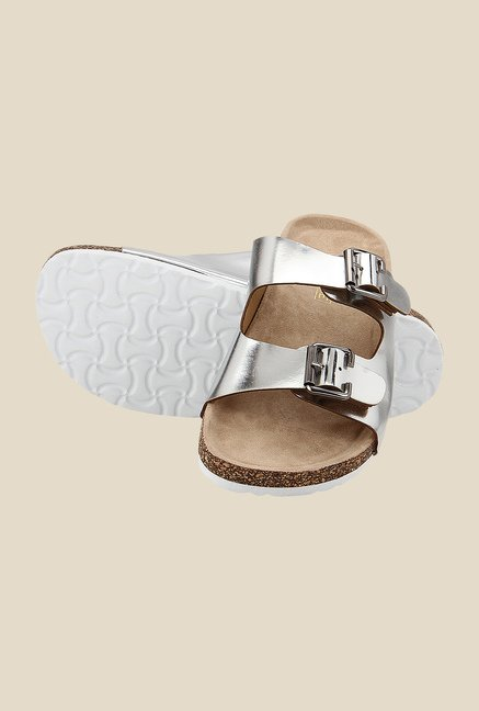 Yepme Silver & Brown Casual Sandals