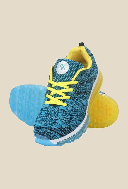 Yepme Blue & Yellow Running Shoes