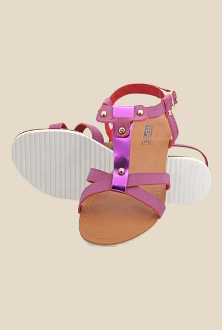 Yepme Purple Back Strap Sandals