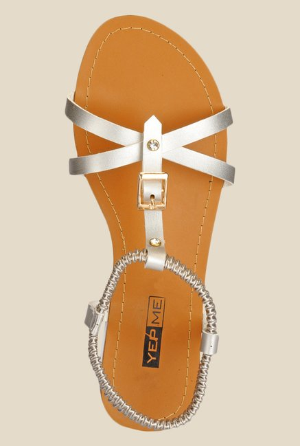 Yepme Silver Sling Back Sandals