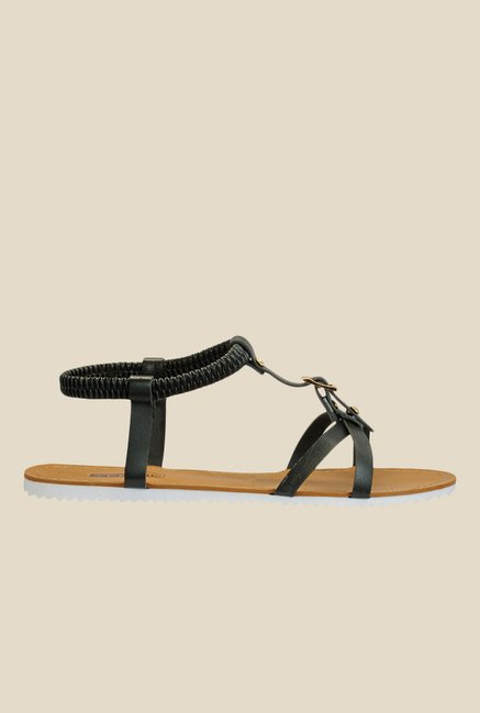 Yepme Black Sling Back Sandals
