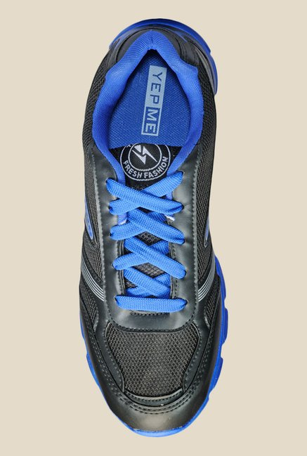 Yepme Black & Blue Running Shoes