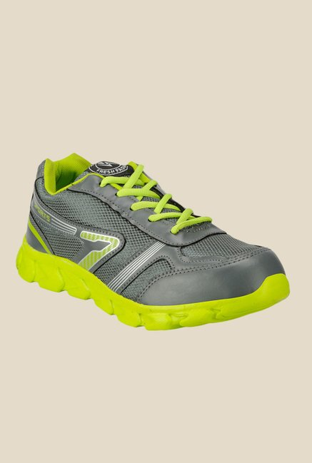 Yepme Grey & Green Running Shoes