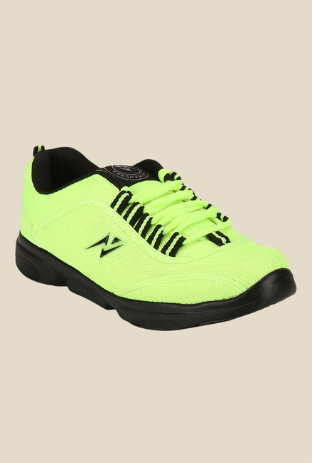 Yepme Neon Green & Black Running Shoes