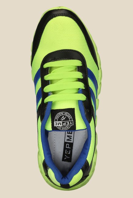 Yepme Green & Black Running Shoes