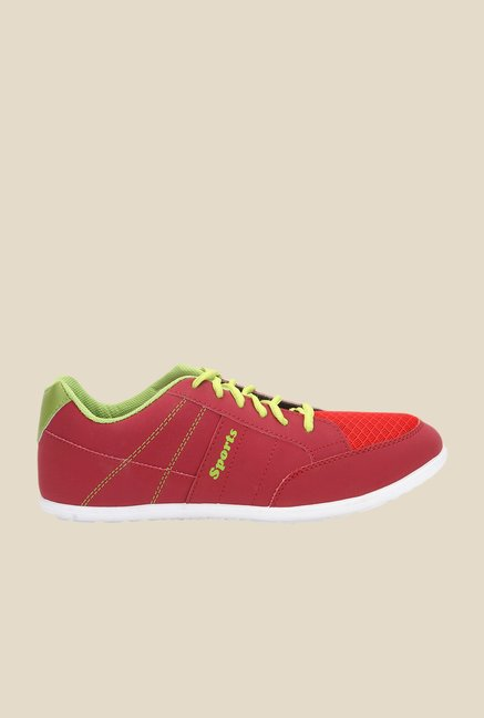 Yepme Red & Green Running Shoes