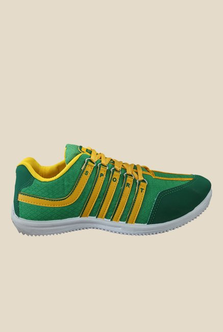 Yepme Green & Yellow Running Shoes