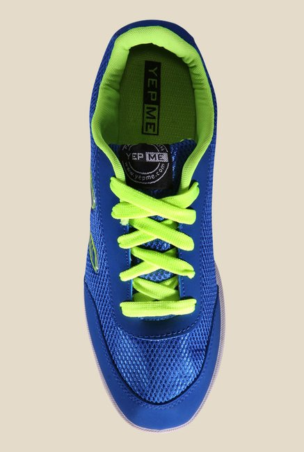 Yepme Blue & Green Running Shoes