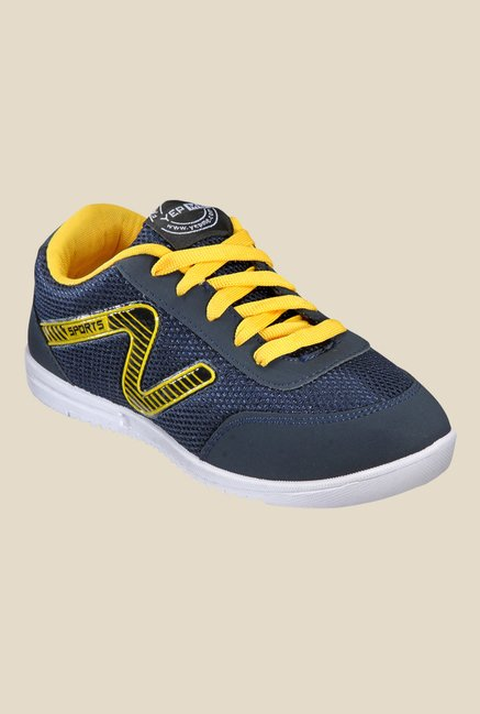 Yepme Navy & Yellow Running Shoes