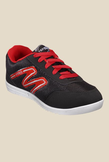 Yepme Black & Red Running Shoes