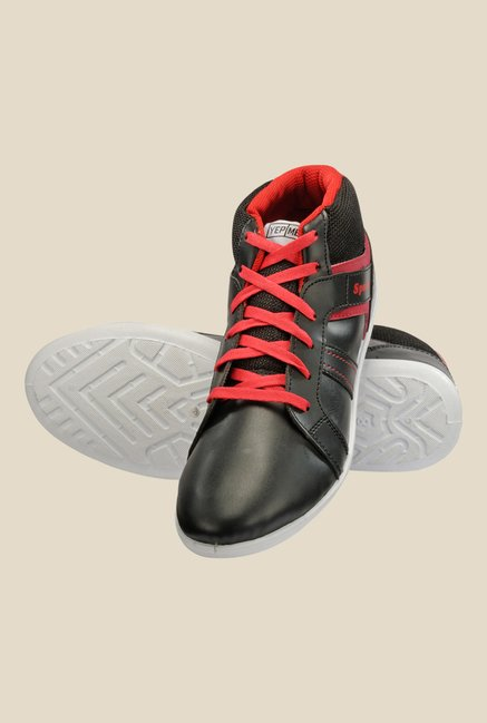 Yepme Black & Red Ankle High Running Shoes