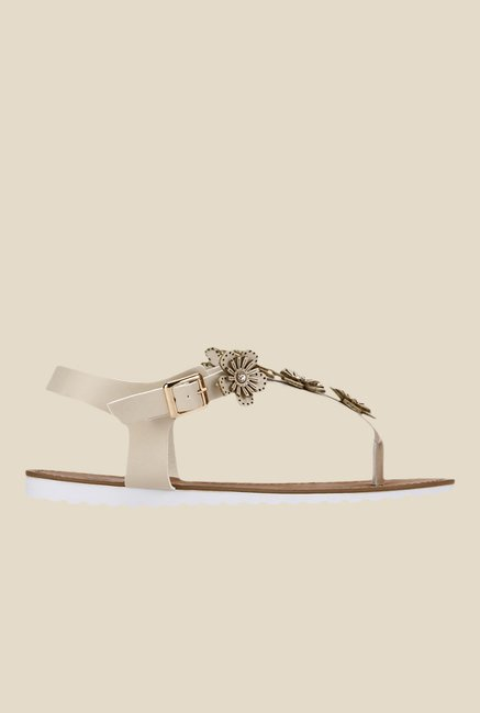 Yepme Beige Ankle Strap Sandals