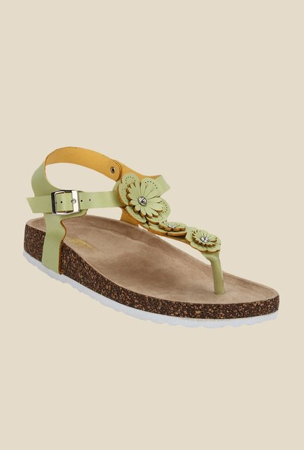 Yepme Green Ankle Strap Sandals