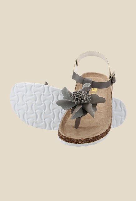 Yepme Grey Ankle Strap Sandals