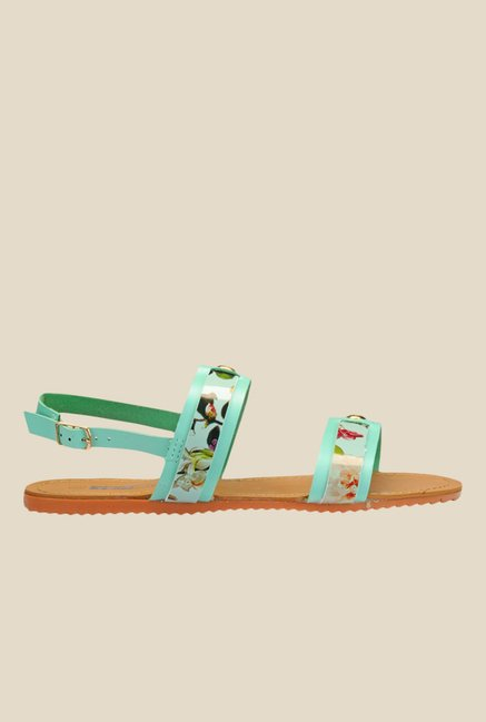 Yepme Green Back Strap Sandals
