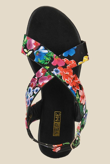 Yepme Multicoloured Back Strap Sandals