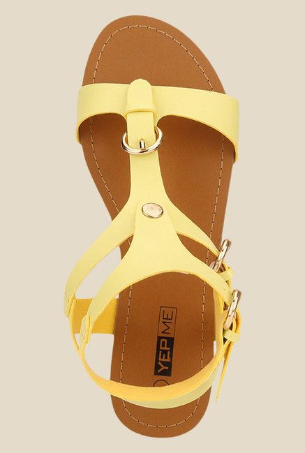 Yepme Yellow Ankle Strap Sandals