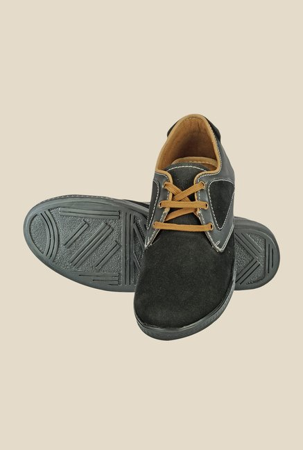 Yepme Black & Grey Derby Shoes