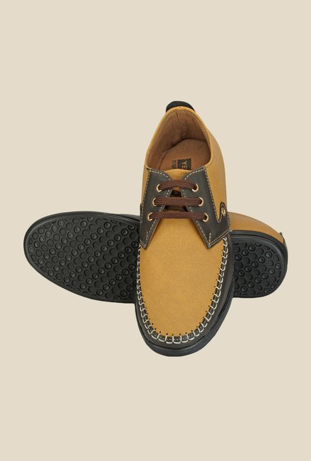 Yepme Tan & Brown Derby Shoes